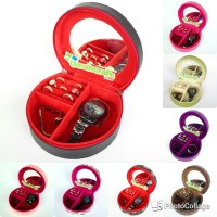 TERMURAH - Mini Jewelry Case kotak Tempat Perhiasan Cincin Gelang