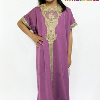 R12 Kaftan Embroidery Lavender Baju khaftan Anak