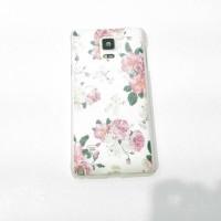 Case Samsung Note 4 Floral cantik hard case lucu