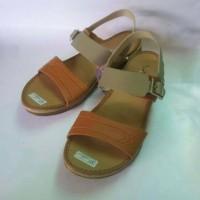 harga Sepatu Sandal Wanita Flat Casual Krem Moka Amel Tokopedia.com
