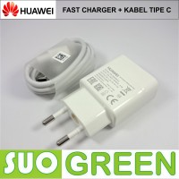 [ORIGINAL] Fast Charger Huawei Original + Kabel Tipe C P10 P9 Honor 8