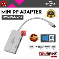 Jual MULTI CONVERTER Mini Display Port 3 in 1 THUNDERBOLT DP MAGNUM HDMI Murah