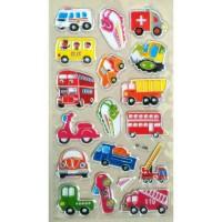 Sticker Stiker Timbul Anak Alat Transportasi
