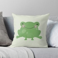 Sarung Bantal-Cushion Cover- Cartoon - The Frog - Katak hijau