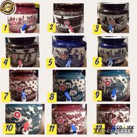 guci galon/guci air/guci keramik/ guci dispenser lukis