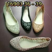 harga Jelly Shoes Sepatu Wanita Karet Bara Bara Flat Shoes Import 16903 Tokopedia.com
