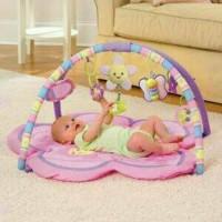 PlayMat BabyGym Matras Alas Play Gym Pliko Pink Mainan Edukasi Bayi