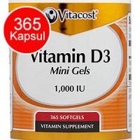 Vitamin D3 1000 IU 365 softgels Utk SATU TAHUN - Vitacost Vitamin D