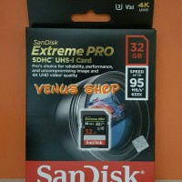 SANDISK SDHC 32GB EXTREME PRO UP TO 95MB / S - EXTREME PRO 32 GB 95 MB