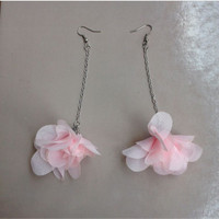 Jual Anting POMPOM Bunga Single / Anting Cantik / Anting Handmade Murah