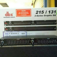 equalizer dbx 215/131. 2-series Graphic EQ
