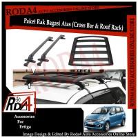 Paket Universal Roof Rack - Rak Bagasi dan Cross Bar Ertiga