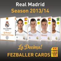 Real Madrid season 2013-14 La Decima Campiones de Europa Kartu Bola