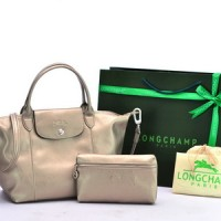Tas Longchamp Le Pliage Cuir Small Set Gold P504992-103