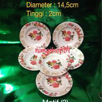 Jual Piring Melamin Kecil motif Bunga (1set isi 6pcs) Murah