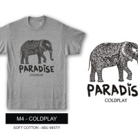 Baju Kaos Band Coldplay Paradise
