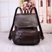 Tas Coklat Import Backpack Bag Pack Murah Pria Kuliah Sekolah Ransel