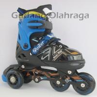 Sepatu Roda BAJAJ Ban KARET / Inline Skate PU Wheels Anak dan Dewasa