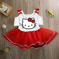Jual Dress Anak Cantik Sabrina Kity Merah Putih Fit 2-4y (Kezia Girl Dress) Murah