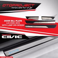 Sill Plate / Door Sillplate Lampu Oem All New Civic Turbo 2016-2017
