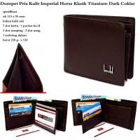 dompet pria kulit terbaru imperial horse klasik titanum coklat muda
