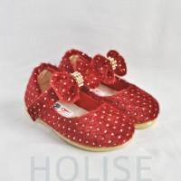 Jual 563409 Sepatu Balita Ballet Bulu Merah Murah