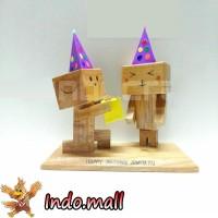 Jual Boneka Kayu Danbo Birthday Kado Ultah Romantis Couple Valentine Unik Murah