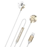 mcdodo Lightning Earphone for iPhone 7 and iPhone 7 Plus HP-1990 GOLD