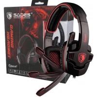 Sades Gpower SA 708 warna MERAH Gaming Headset ORIGINAL