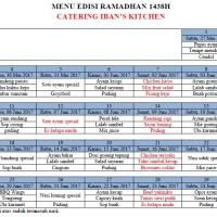 Paket menu Fidyah Ramadhan 1438H
