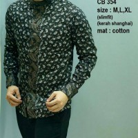 Batik Pria ,kemeja Slimfit ,baju Batik Modern Lengan Panjang Cb 354