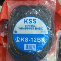 KSS Spiral Kabel Wrapping Band KS-12 Hitam