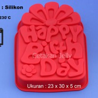 Cetakan Kue / Puding Happy Birthday III