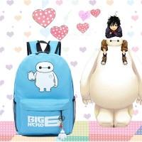Baymax Big Hero Backpack Tas Ransel Warnita Fashion Korea Style Import