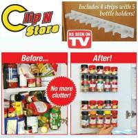 Clip n Store / rak botol bumbu / clip and store muat 20 botol