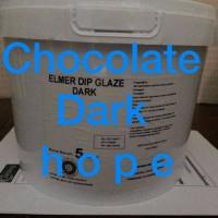 Jual Elmer Dip Glaze Chocolate - Dark 5kg ( new ) Murah