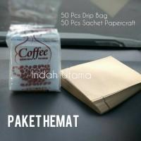 Jual Paket Hemat Drip Bag + Sachet Papercraft 50+50 Murah