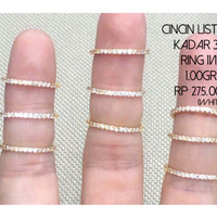 cincin listring emas putih perhiasan wanita kadar 375