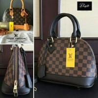lv alma damier black & brown. tas wanita.tas kantor.tas fashion