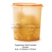 Tupperware Giant Canister 8.4L - Gold