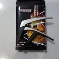Jual Capo Gitar Stainless High grade silver nylon / akustik / elektrik Murah