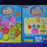 Jual MAGIC SAND 200gr - PASIR KINETIK AJAIB MURAH - COTTON - MAINAN EDUKASI Murah