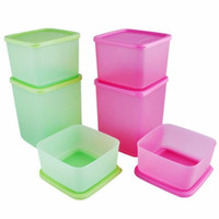 Promo Murah alat Dapur Tupperware Summer Fun Collection 6 Pcs - Pink-H