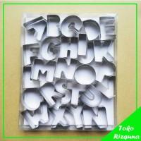 Jual Cetakan nastar / kue kering / nugget bentuk huruf alfabet Murah
