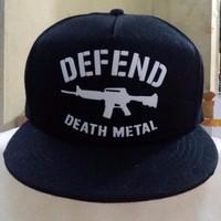 Topi Snapback Defend Death Metal High Quality