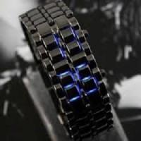 Jual Jual Jam Tangan Pria SKMEI Iron Samurai Hitam LED Biru 9061 Original Murah