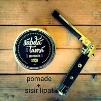 Jual pomade + sisir lipat switchblade comb Murah