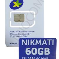 Kartu Perdana XL GO 60Gb 60hari