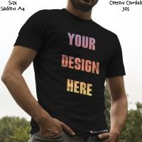 Kaos Satuan Sablon Print DTG Desain Sendiri A4 Kaos Warna