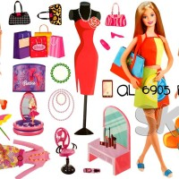 WALLSTICKER JBTR AL 6905 BARBIE WALL STICKER WALLPAPER WALLSTIKER